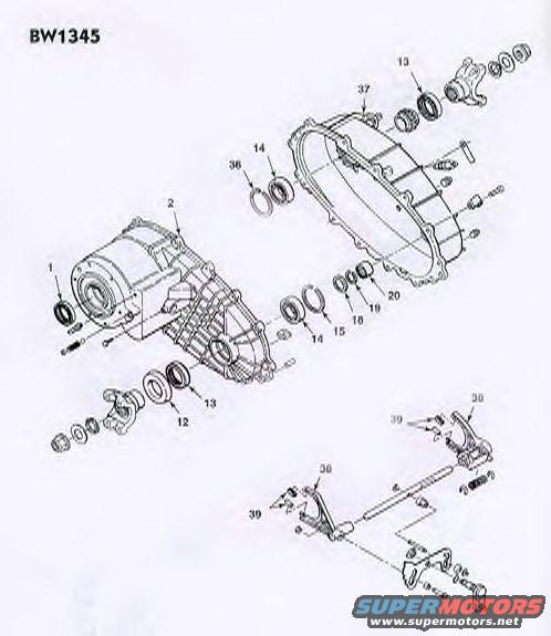 borg warner 1356 transfer case diagram
