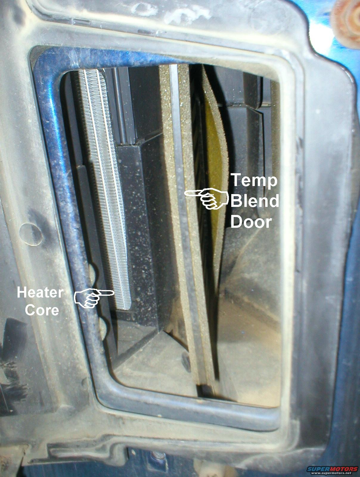 Water Going To The Heater Core And Air Is Blowing Thru It The Air Will Come Out Hot How Do You Know The Blend Door Is Working Have You Looked At It